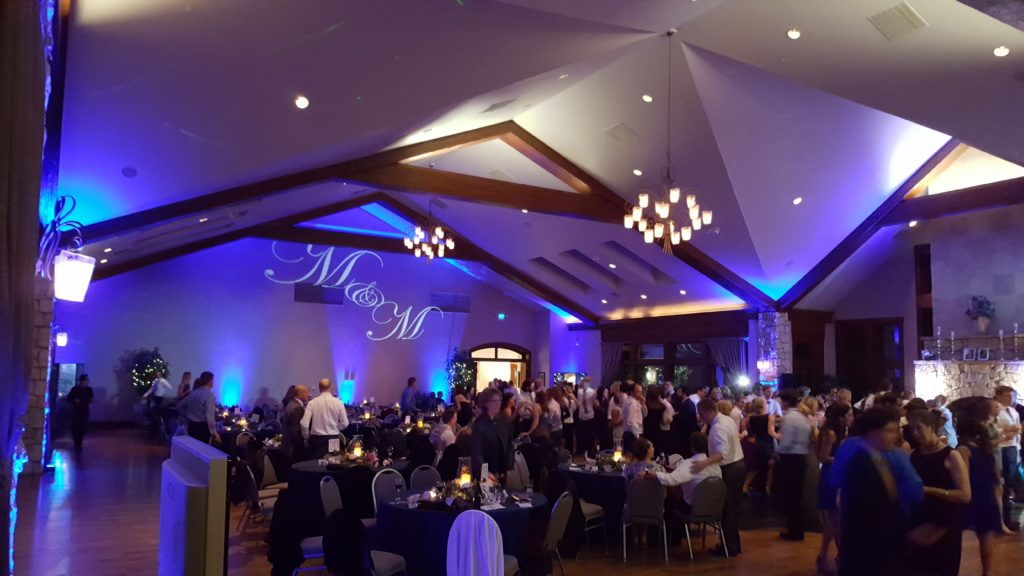 Denver Wedding DJ & Lighting Services Uplighting Gobo Monogram