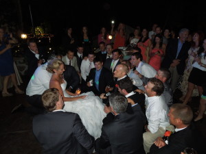 Denver bride gets serenaded at her wedding
