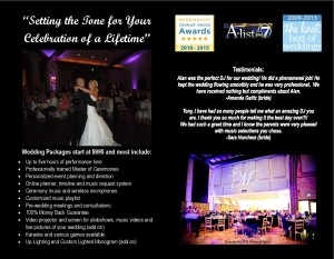 Denver Wedding DJ Brochure 2